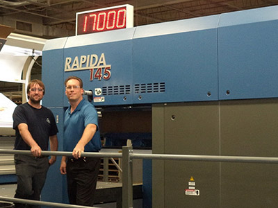 KBA Rapida 145 seven-color press