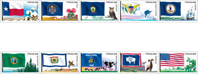 Flags of Our Nations stamps