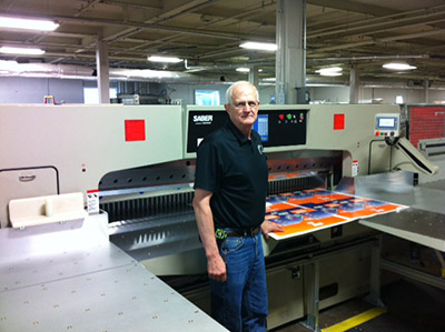 Tim Eickhoff, Litho Press, Colter & Petersen Saber XXL paper cutter