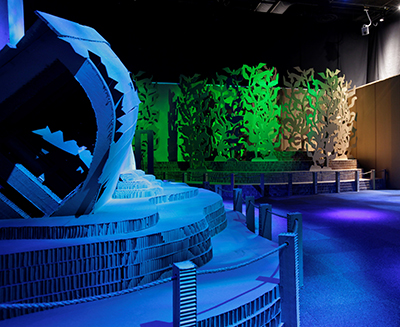 Hexacomb Recycle Reef Exhibit at Perot Museum