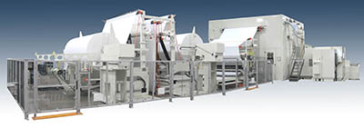 Bretting paper converting machine