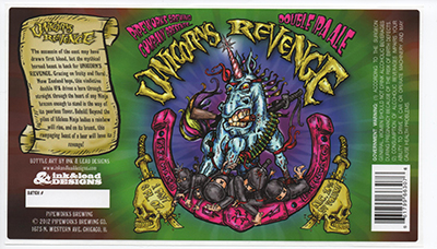 Unicorn's Revenge beer label