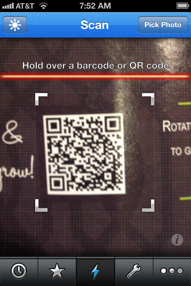 QR Code Scan Image for Manufacturing